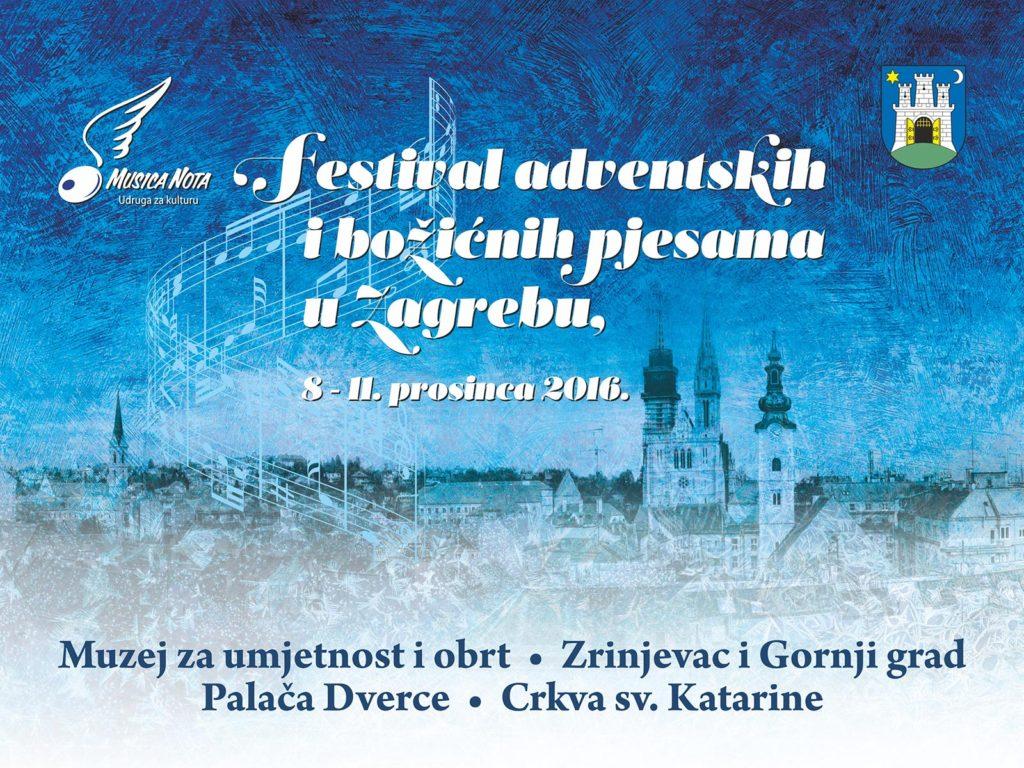 Glazbeni festival adventskih i božićnih pjesama u Zagrebu 2016. Musica Nota